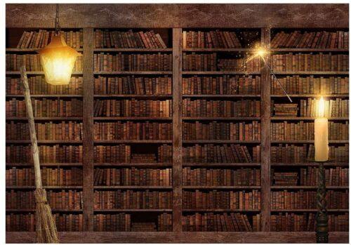 Magical bookshelf backdrop