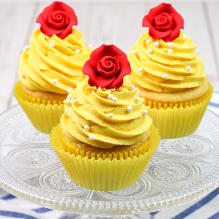 Beauty And The Beast Cupcakes square