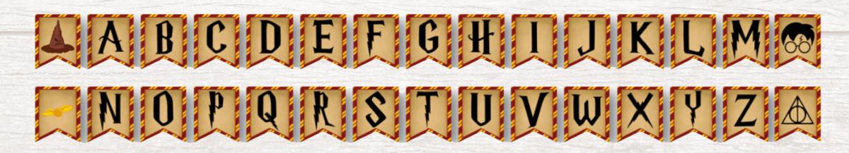 Harry Potter Banner Letters