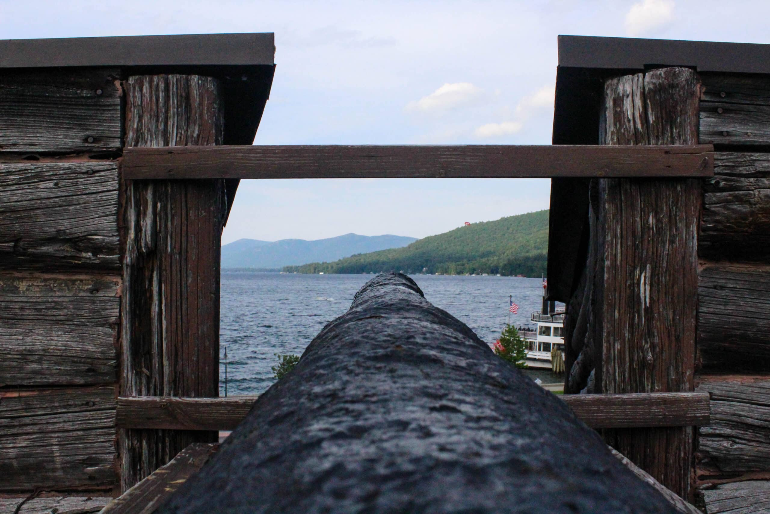 Cannon overlooking Lake George