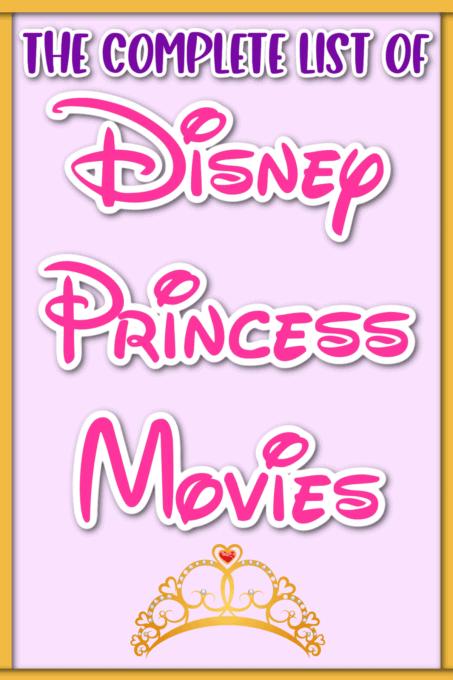 Disney Princess Movies pin