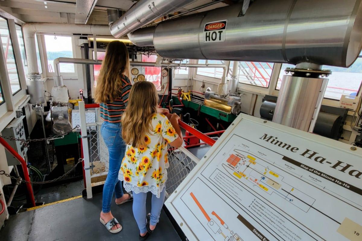 Engine room on the Minne Ha Ha