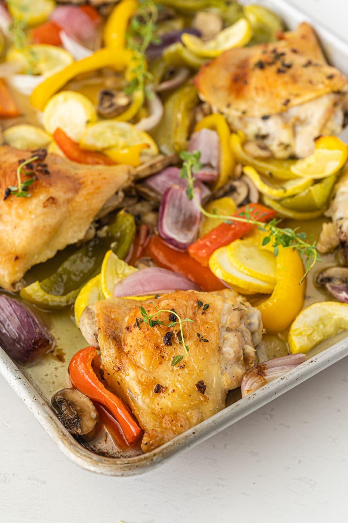 Sheet Pan Chicken And Veggies Recipe