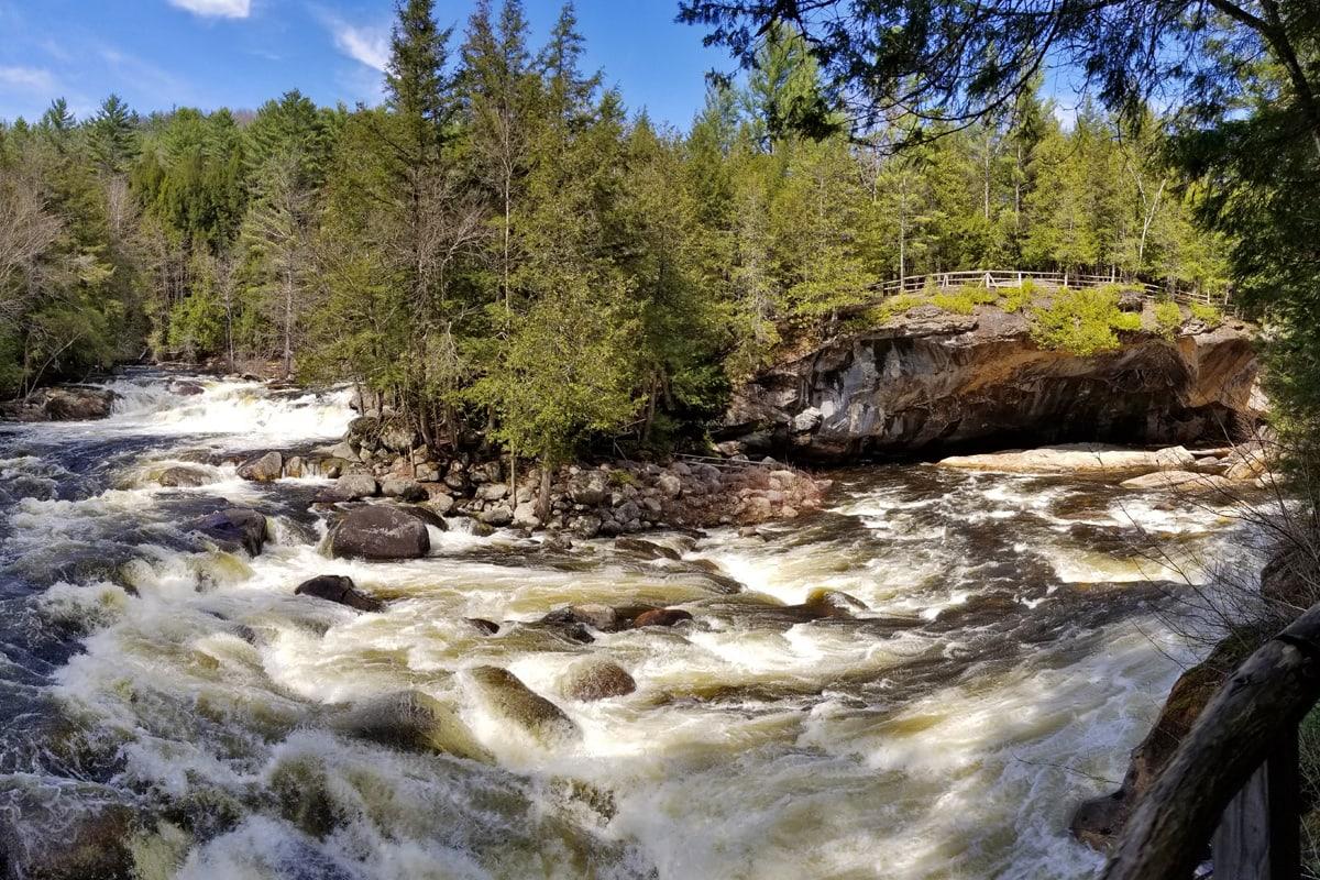 Natural Stone Bridge in the Adirondacks