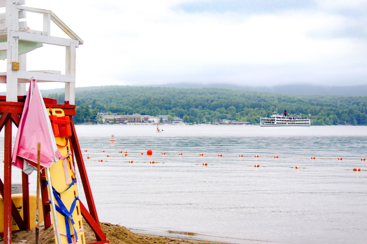 View from Million Dollar Beach in Lake George New York