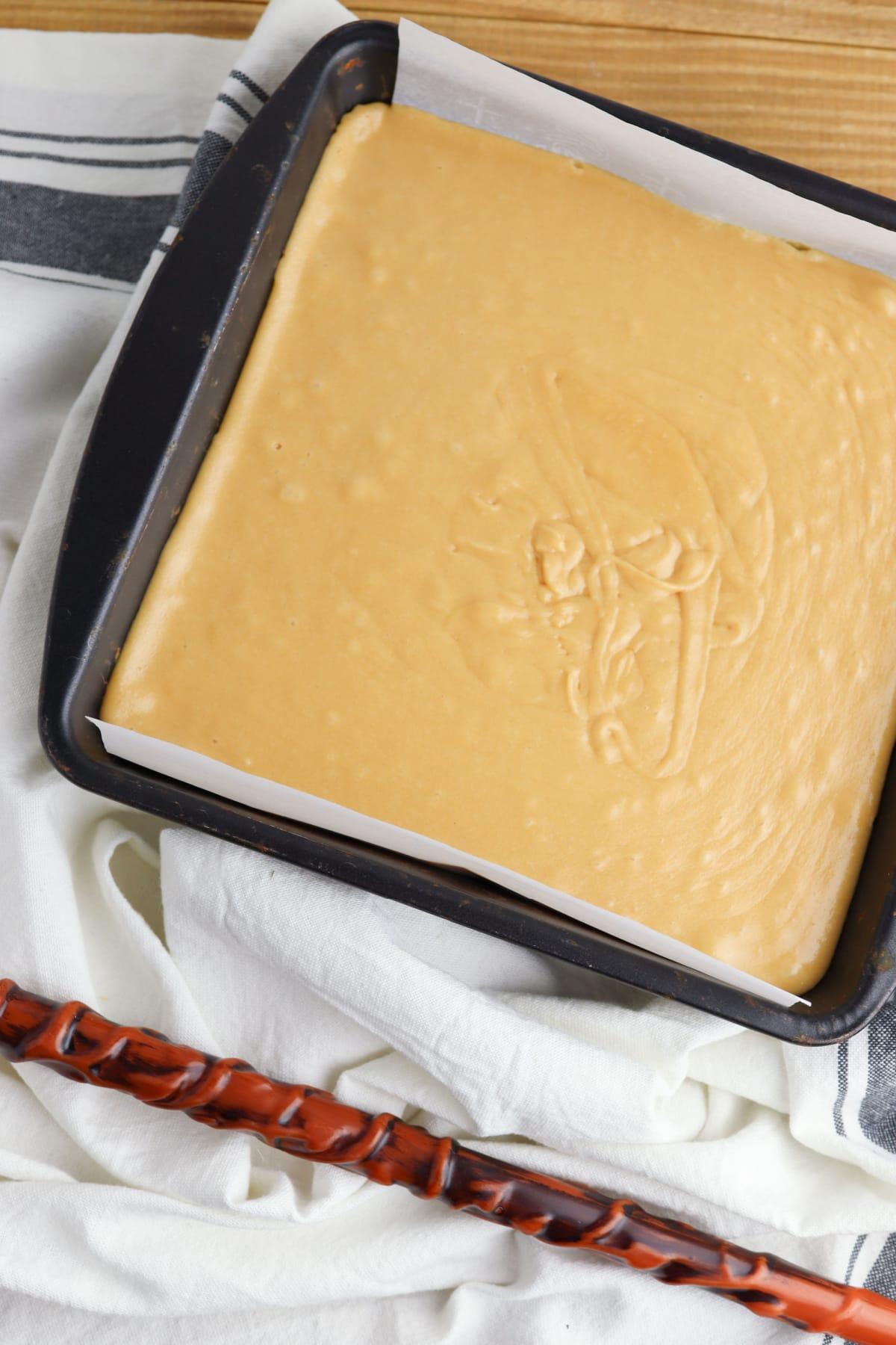 Bottom layer of butterbeer fudge