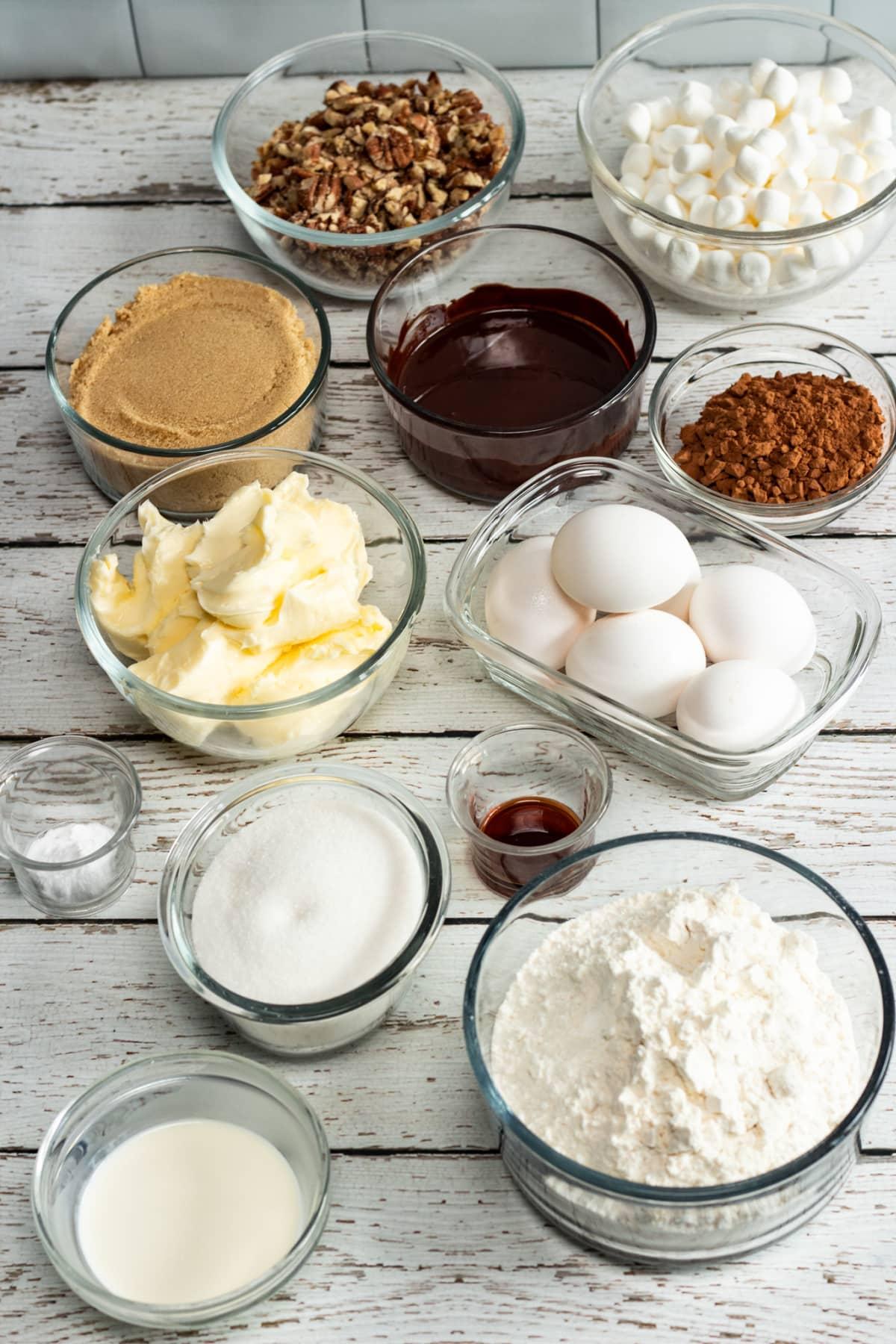 Ingredients for Mississippi Mud Cake Recipe