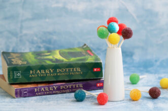 Acid pops with Harry Potter books