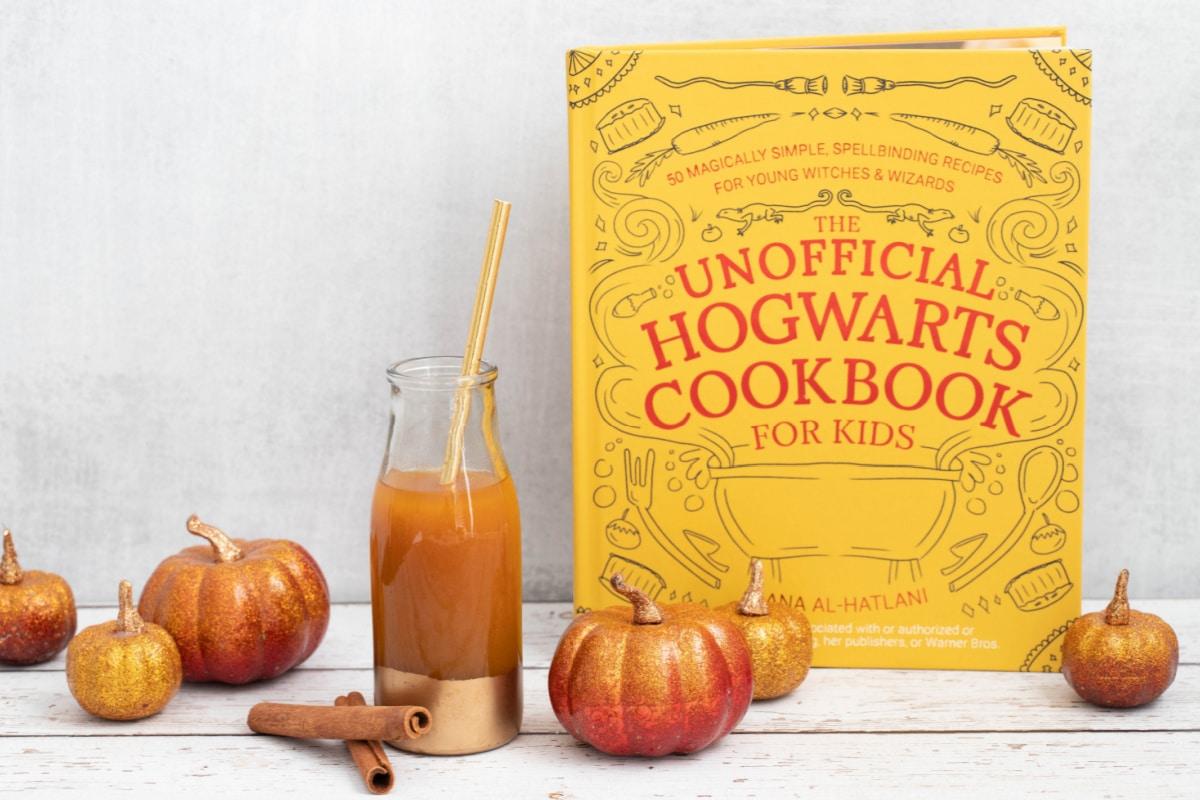 Hogwarts cookbook with pumpkin juice