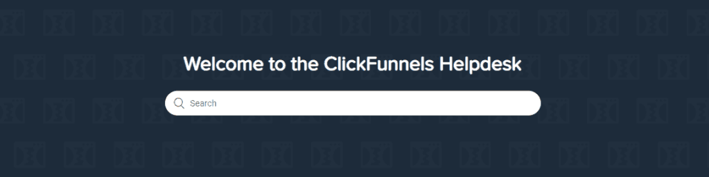 ClickFunnels Helpdesk Search