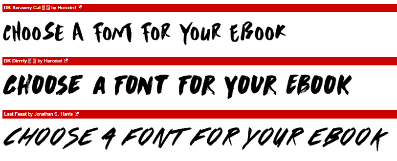 choose your ebook-fonts