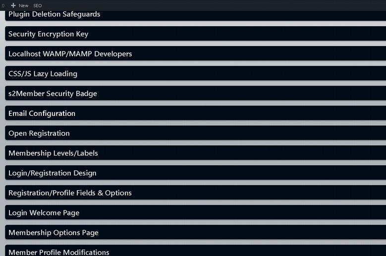 S2 Member settings
