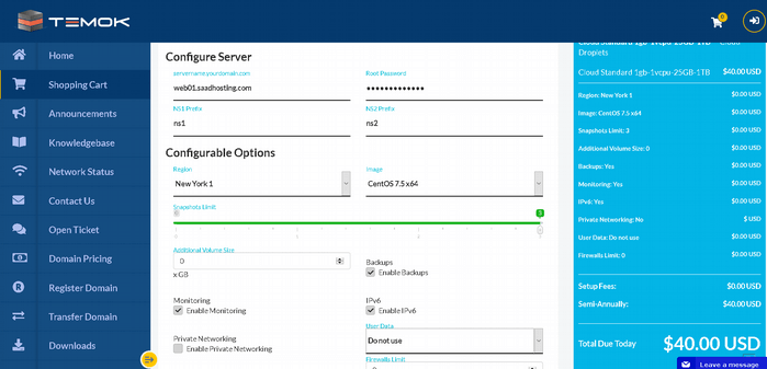 managed digital ocean configure server