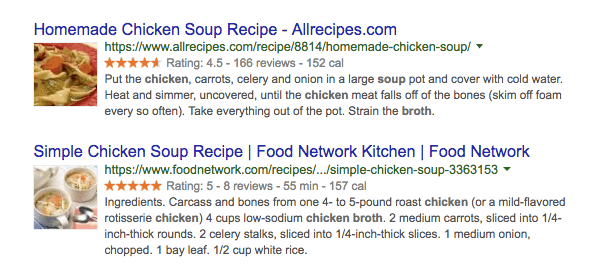 rich snippets schema example