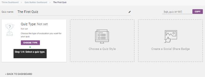 quiz dashboard