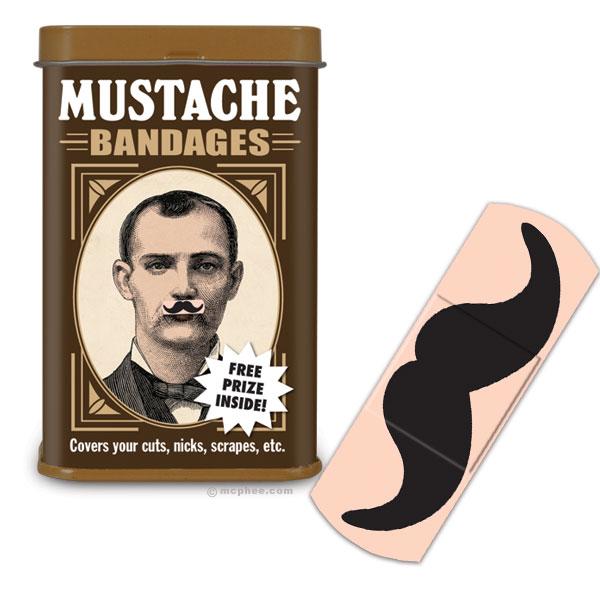 mustache bandages Mustache Bandages