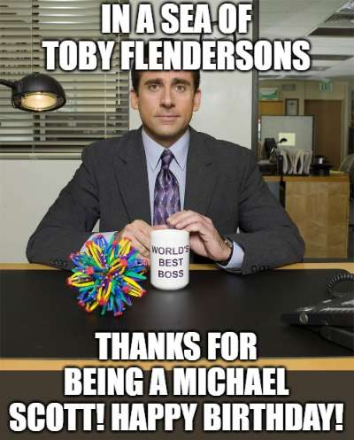 Birthday Meme The Office : birthday, office, Funny, Birthday, Wishes, Bosses, Managers