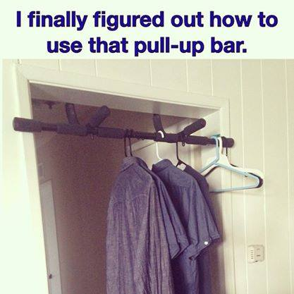 PullUp bar for Lazy Guys  Funny Pictures Quotes Memes