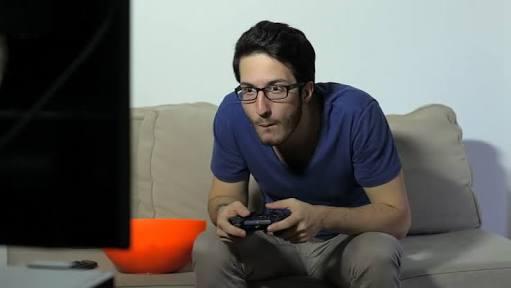 Addicted video gamer