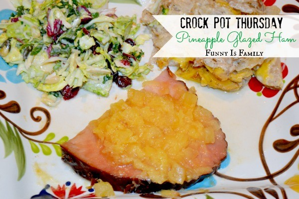 With only a few ingredients and incredibly easy directions, this Crockpot Pineapple Glazed Ham recipe is a quick and easy dinner idea your family will love! One of my sisters-in-law says this is her all-time favorite crockpot recipe!