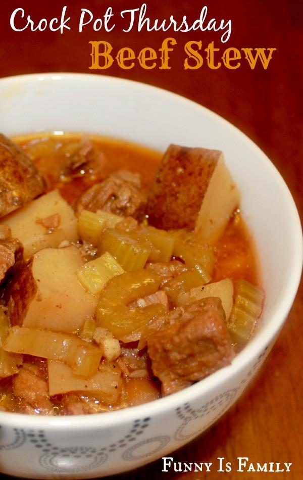 This Classic Crockpot Beef Stew is like the beef stew recipe my grandma used to make!