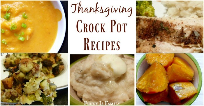 Use your slow cooker to help prepare your Thanksgiving sides! I'll be cooking crockpot butternut squash soup, crockpot sausage stuffing, crockpot mashed potatoes, and easy crockpot sweet potatoes on the big day, and crockpot roasted turkey breast is a yearlong favorite! Thanksgiving crockpot recipes are delicious!