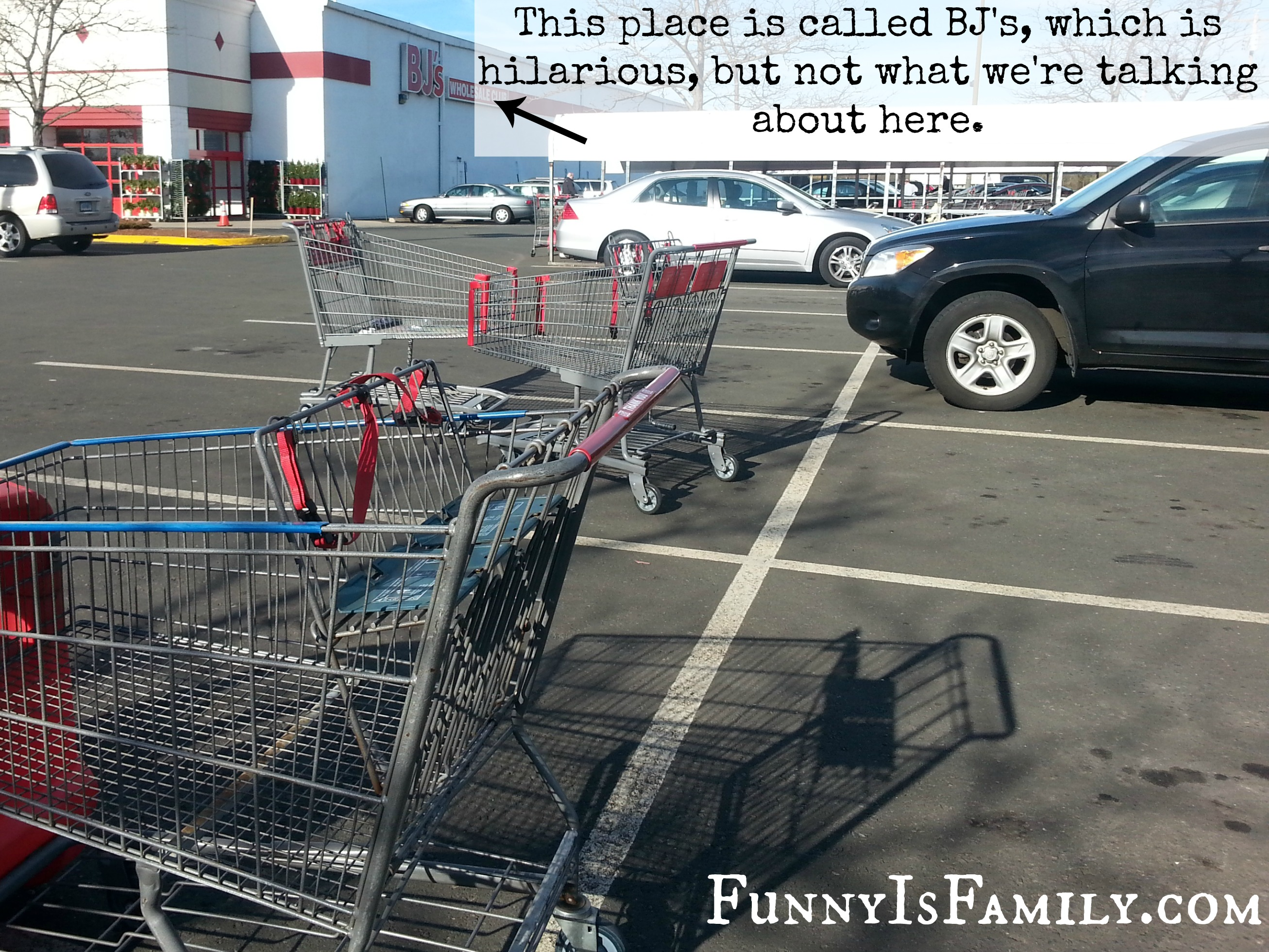 Three more that s six empty abandoned shopping carts in a span of eleven parking spaces it s madness since this is the season of giving i d love it if