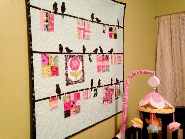 Bird-Themed Baby Quilt