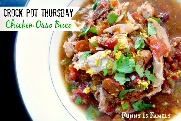 This Crockpot Chicken Osso Buco offers a slow cooker twist on the traditional chicken recipe!