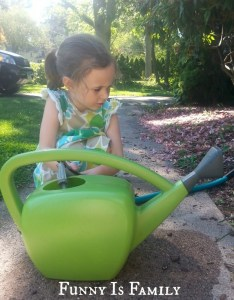 A rookie gardener greens her thumb. From @FunnyIsFamily.
