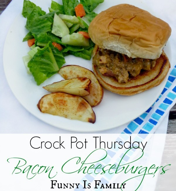 Crock Pot Bacon Cheeseburgers