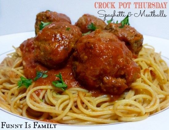 This Crockpot Spaghetti and Meatballs recipe is a family favorite! It's an easy dinner idea that is perfect for company or for a quick weeknight dish!