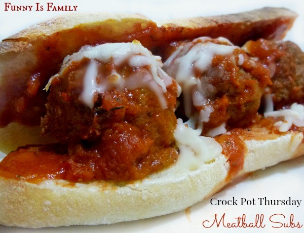 These Crock Pot Meatball Subs are delicious!