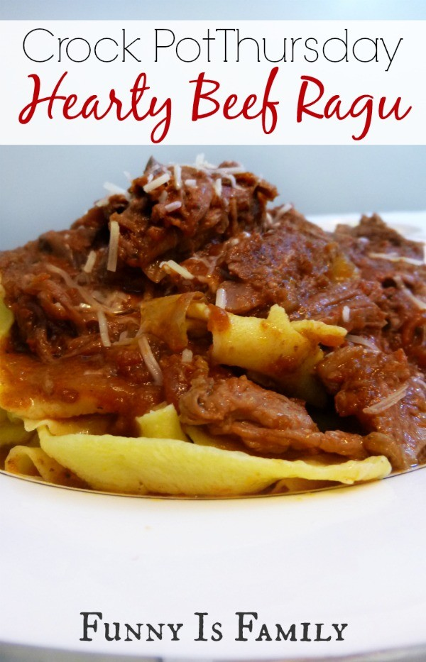 A delicious and hearty Crock Pot beef ragu.