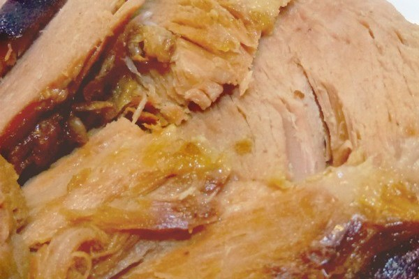 This Crock Pot Cola Ham is so quick and easy, and the flavor is incredible!
