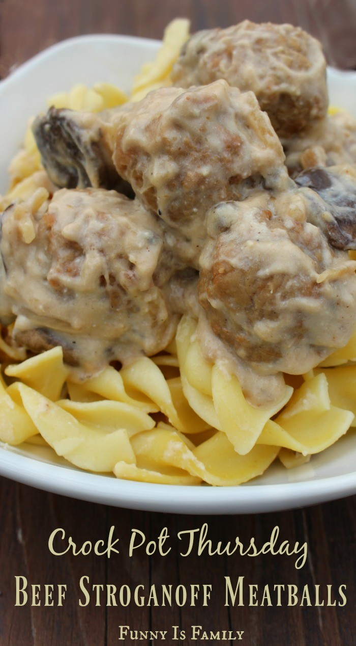 These Crock Pot Beef Stroganoff Meatballs are easy to throw together, and they taste fantastic! If you're looking for an easy dinner idea, my family loves this meatball recipe!