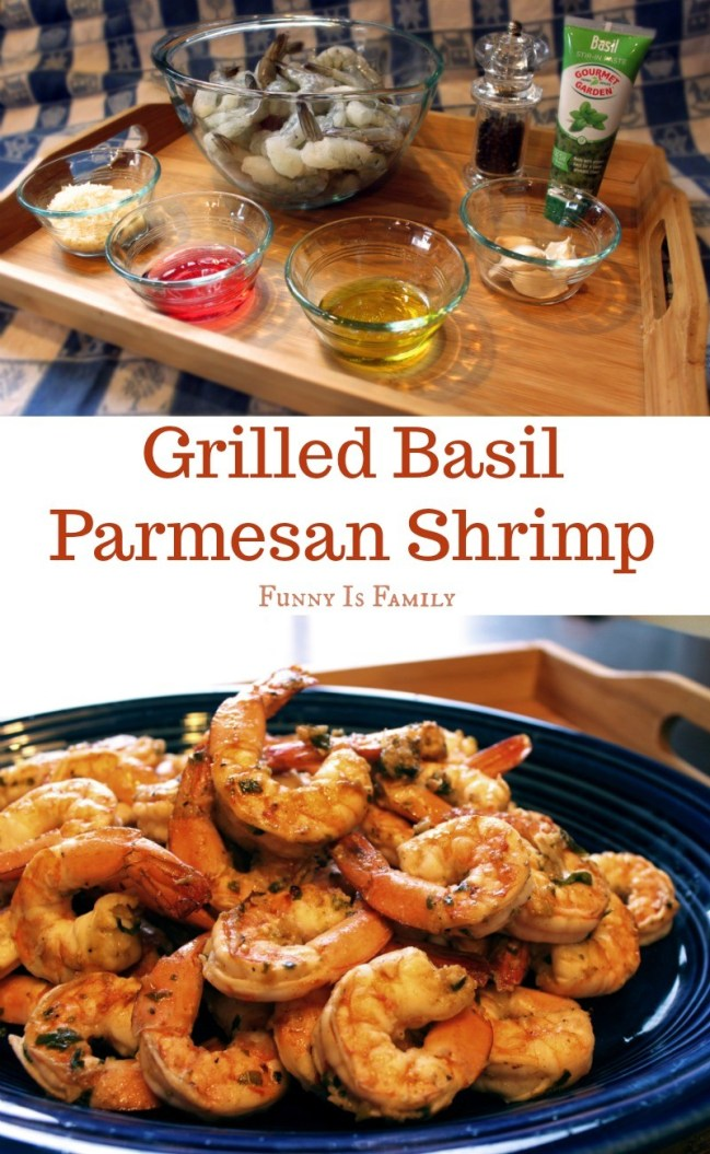 This Grilled Basil Parmesan Shrimp recipe isa quick and deliciousmeal to serveguests, isgreat at a BBQ, and makes a super-easy, throw together appetizer!