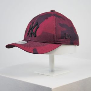 Gorra de niño New Era 9forty Youth camuflaje tonos rojos niña