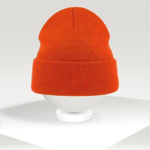orange atlantis personalized beanie for winter
