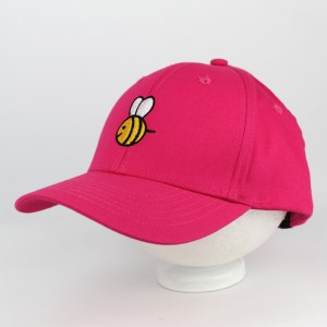 Gorra top hats Bordada con una Abeja color fucsia