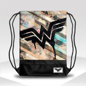 mochila wonder woman justice league gym sack