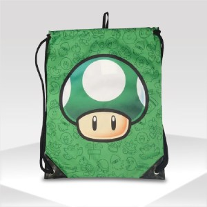 mochila 1 up nintendo super mario bros gym sack