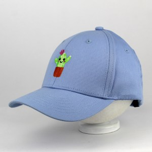 Light Blue Cap with a Cactus Embroidered | Funny Kiddy