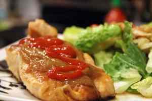 Add sriracha to salmon if desired