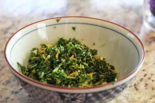 gremolata ready for topping