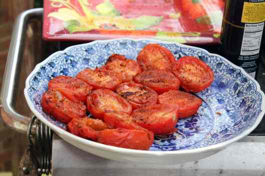 Grilled tomatoes can wait