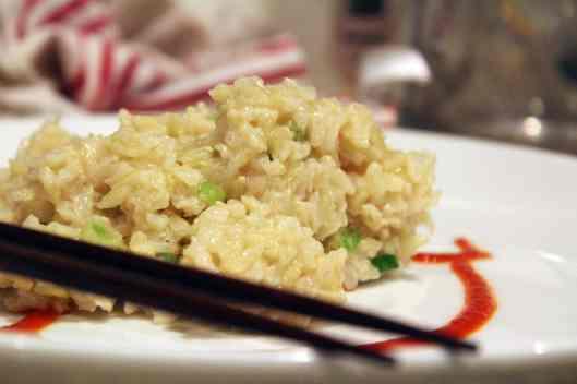 Rice with sriracha