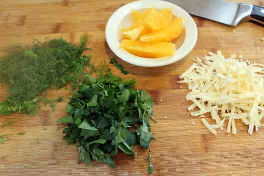 Topping and sauce ingredients