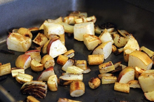 Roast veggies until soft
