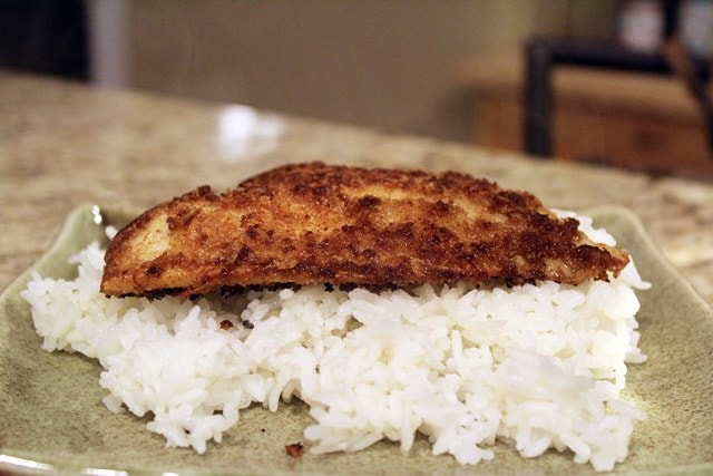 Serve fish over rice first